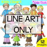 Backpack Kids Line Art Set 1 Clipart Clip Art Children Kid