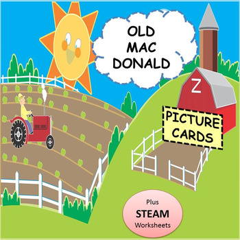 "Children Song: ""Old Mac Donald"" Picture Cards, Sheet Music"