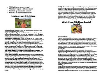 Children and Divorce - A handout for families