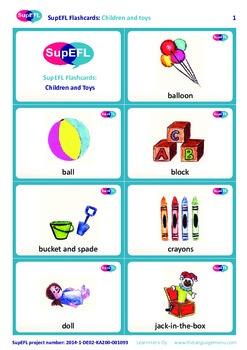 Children and Toys Flashcards in English