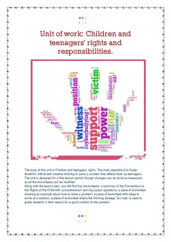 Children and teenagers' rights and responsibilities