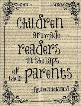 Children are made readers in the laps of their parents Pos