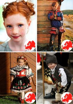 Children around the world Montessori  Cards