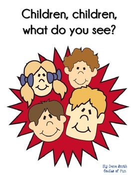Children, children, what do you see? (identifying shapes booklet)