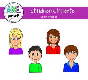 Children cliparts (Enfants)