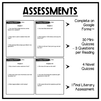 Children of Blood and Bone: Assessment Pack - Quizzes, Tests, Essays, Keys