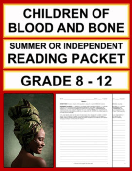 Children of Blood and Bone Reading Response Summer Packet