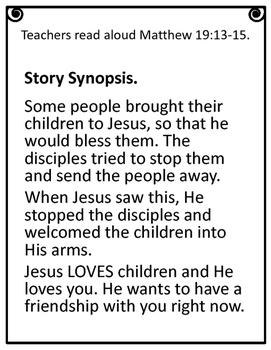 Children of the Bible Series. Jesus Loves the Children.Worksheets.Activities.
