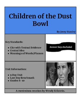 Children of the Dust Bowl - Jerry Stanley (9 Day Unit with Benchmark)