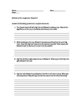 Children of the Long House homework questions