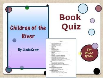 Children of the River Book Quiz / Book Club Quiz / Book Test