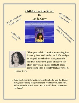 Children of the River by Linda Crew - Enrichment Packet or Book Report
