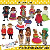 Children of the World clip art Americas