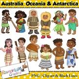 Children of the World clip art Australia, Oceania and Antarctica