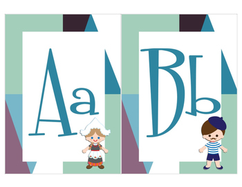Children of the World Bulletin Board/Classroom -printable alphabet cards
