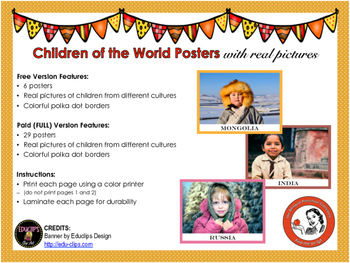 Children of the World Posters -FREE Version