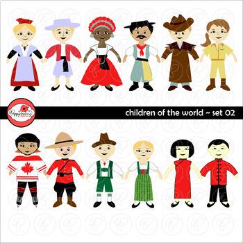 Children of the World (Set 02) Clipart by Poppydreamz