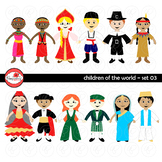 Children of the World (Set 03) Clipart by Poppydreamz