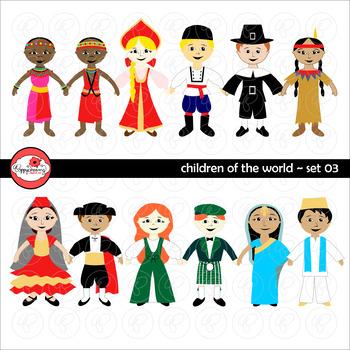 Children of the World (Set 03) Clipart by Poppydreamz