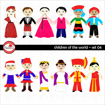 Children of the World (Set 04) Clipart by Poppydreamz