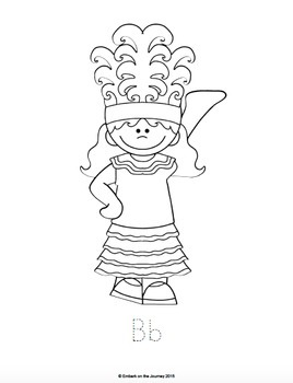 Children of the World Writing and Coloring Pages