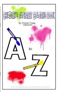 Children's  Alphabet Coloring  Book A to Z