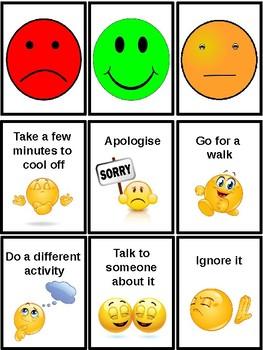 Children's Anger Management Flash Cards, Autism, PECS