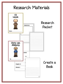 Children's Authors 2 Research Project 16 People Vocab Cards, Packet, Book & More