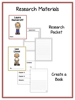 Children's Authors 3 Research Project 16 People Vocab Cards, Packet, Book & More