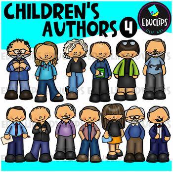 Children's Authors 4 Clip Art Bundle {Educlips Clipart}