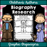 Children's Authors - Biography Research Graphic Organizers | Distance Learning