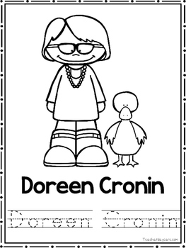 Children's Authors Coloring Book worksheets.  Preschool-2nd Grade