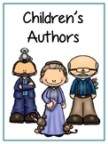 Children's Authors Writing Word Thematic Folder - Picture Word Wall