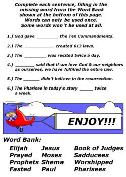 Children's Bible Curriculum – A Ten Pack - Lessons 21-30