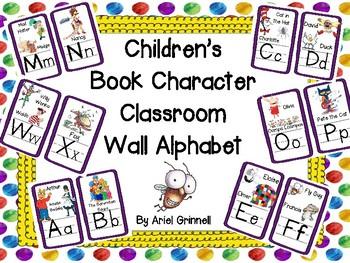 Children's Book Character Themed Classroom Wall Alphabet