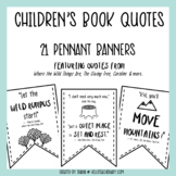 Children's Book Quotes - Pennant Banners