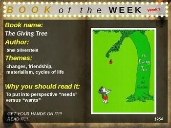 Children's Book of the Week - 36 books (K-3rd grade)