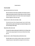Children's Books Annotated Bibliography