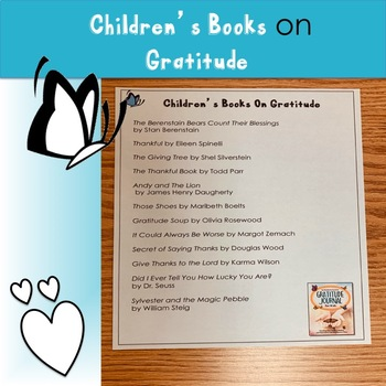 Children's Books on Gratitude