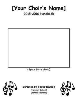 Children's Choir Handbook Template - EDITABLE