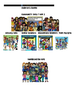 Children's Clip-Art Bundle: 182 + pc. Clip-Art Set! BW & Color