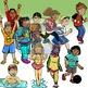 Children's Clip-Art Bundle: 182 + pc. Clip-Art Set! BW & Color