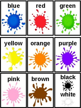 Children's Colour Flash Cards by Bizzy Kidz | Teachers Pay Teachers