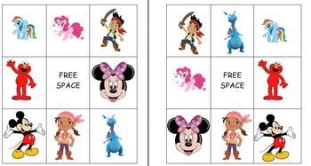 Children's Favorite Characters Bingo