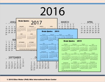 Children's Interactive Calendar with Brain Prompts