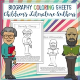 Children's Literature Authors and Illustrators Biography Coloring Sheets