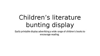 Children's Literature Bunting- classroom decorations