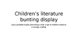 Children's Literature Bunting- classroom decorations