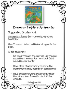 Children's Literature Music Mini Lessons: Volume 1