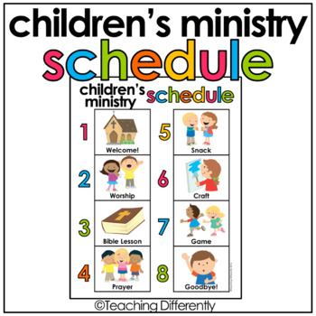 Children's Ministry Schedule {FREE}